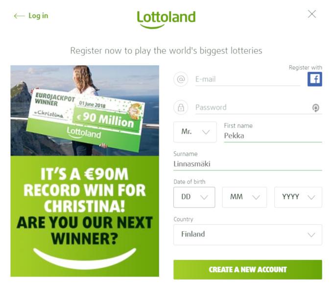 lottoland rekisterointi