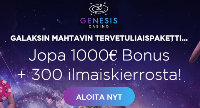 genesis casino bonus uusille asiakkaille