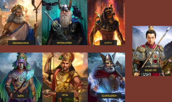 kaikki jumalat 7 gods casino