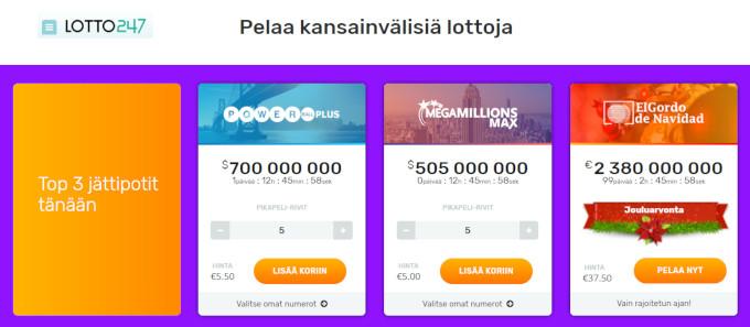 lotto247 kansainvaliset lotot