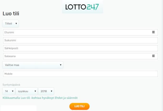 lotto247 rekisterointi