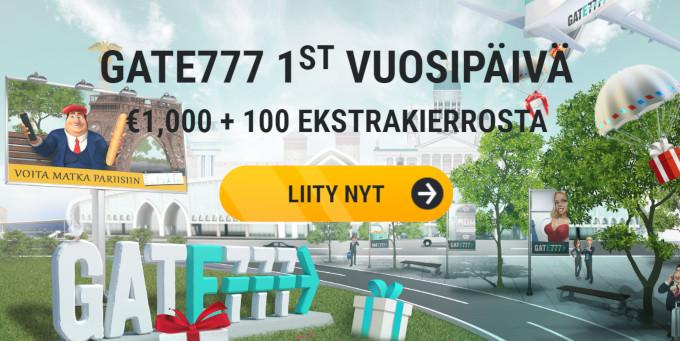 gate777 bonus uusille asiakkaille