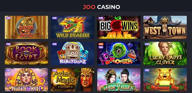 Joo casino pelivalikoima