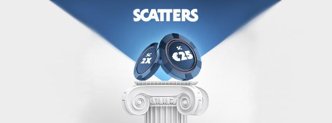 Uudet Scatters kasinon asiakkaat saavat 25 euron arvoisen riskittömän bonuksen