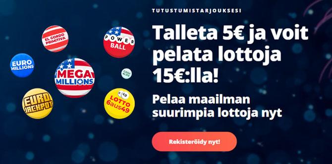 Lyö vetoa luton tuloksesta Megalotto kasinolla 10 euron bonuksen avulla