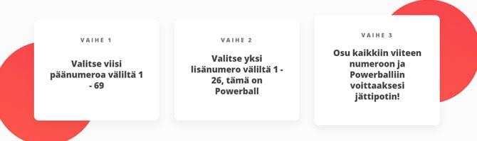 Powerball lotto ohjeet