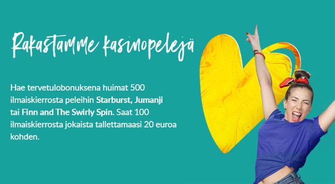 Suomiarvat uusi bonus jonka avulla saat jopa 500 kierrosta