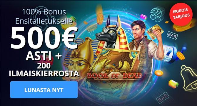 Lunasta Twin Casinon uniikki bonus vain meiltä