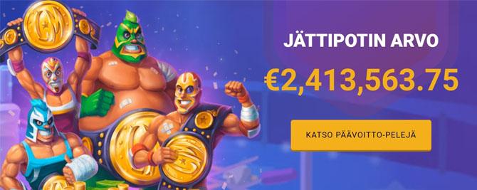 Yli 2,5 miljoonan euron edestä jackpot palkintoja odottaa