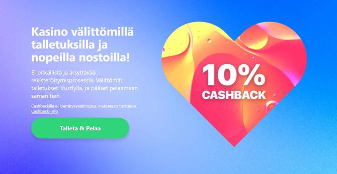 Dreamz uusi bonus tuo 10% käteispalautusta